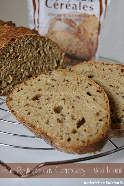 Cuisson du pain rustique aux céréales de la marque Mon Fournil® produit offert lors d'un partenariat - Kaderick en Kuizinn©