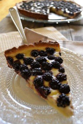 Ingrédients de la tarte flan pâtissier à la mûre - Kaderick en Kuizinn©
