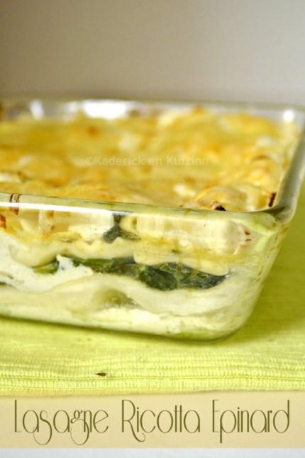 Recette de lasagne à la ricotta et épinard bio pour un plat végétarien - ©Kaderick en Kuizinn