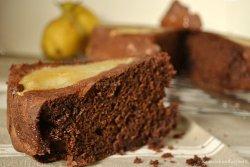 Recette du moelleux chocolat aux petits oursons à la guimauve et poires  - Menu Paques