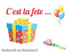 logo c'est la fête - Kaderick en Kuizinn©
