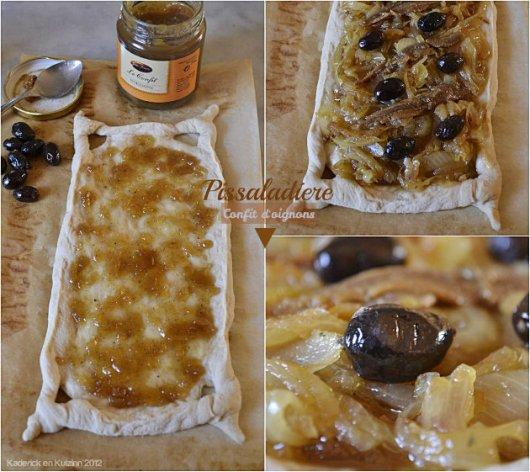Préparation de la pissaladière au confit d'oignons, anchois et olives noires de mon partenaire Jours Heureux - Kaderick en Kuizinn©