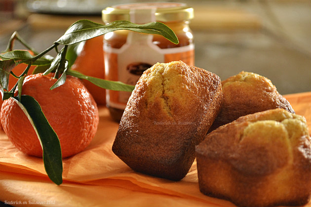 Recette des madeleines crème de caramel au beurre salé de la boutique gourmande les Jours Heureux® et clémentines bio - Kaderick en Kuizinn©2012