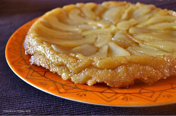 Recette de la tarte tatin aux poires bio caramélisées avec une pâte brisée maison - Kaderick en Kuizinn©