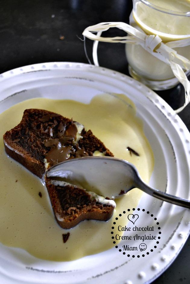 Recette du cake chocolat noir au lait ribot et sa crème anglaise maison - Kaderick en Kuizinn©2013