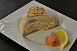 Recette des rouleaux de saumon farci au fromage blanc, saumon fumé, zestes de citron et carotte à la vapeur pour Culino Versions - Kaderick en Kuizinn©2013