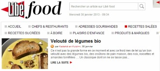 Selection Libefood veloute legumes bio