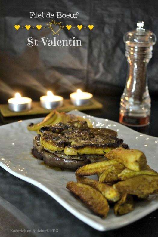 Recette du filet boeuf rossini aux deux pommes pour le repas de la St-Valentin - Kaderick en Kuizinn©2013