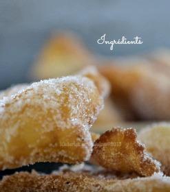 Recette beignets, bugnes ou oreillettes à la fleur d'oranger pour le thème de Culino Versions - Kaderick en Kuizinn©2013