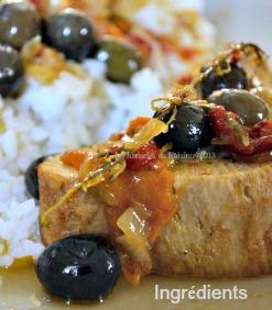 Recette du roti dinde à la basquaise, poivrons, olives du jardin, tomates confites, du soleil pour un plat du jour Bistrot - Kaderick en Kuizinn©2013