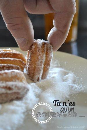Recette facile des churros maison au sucre tonka comme à la fête foraine pour le thème de Culino Versions - kaderick en Kuizinn©201