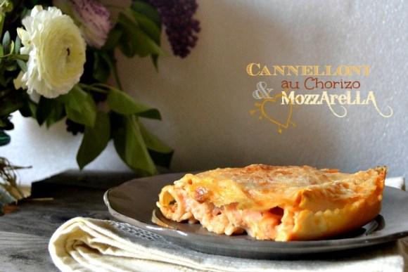 Cannelloni chorizo & mozzarella, plat du jour sur l'ardoise ma cuisine de bistrot - Kaderick en Kuizinn©2013