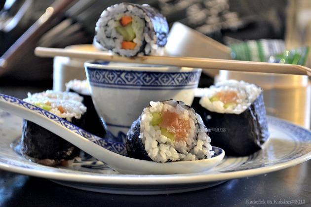 Recette makis au saumon fumé, concombre & carotte pour le nouvel An Chinois 2013 - Kaderick en Kuizinn©2013