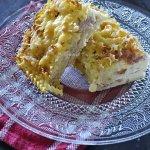 Clafoutis ou gratin de pâtes au jambon et gruyère râpé avec un reste de pâtes - Kaderick en Kuizinn©2013