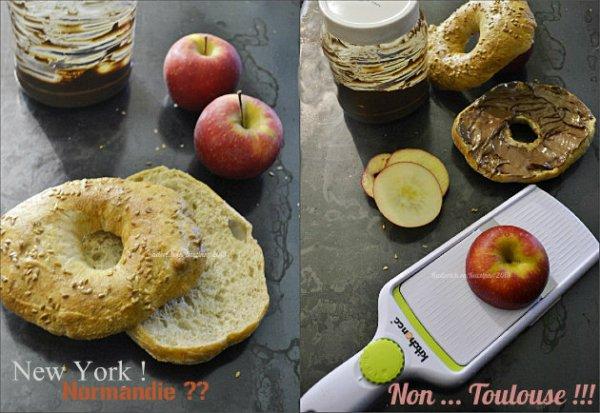 Recette des bagels pommes et au chocolat nutella pour un goûter gourmand - Kaderick en Kuizinn©2013