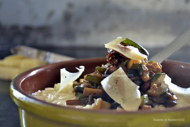 Recette risotto fromage & poêlée de légumes bio pour Culino Versions - Kaderick en Kuizinn©2013