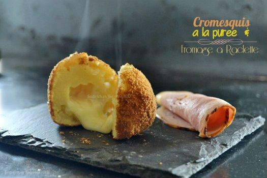 Recette cromesquis de pommes de terre au fromage à raclette pour le jour 7 calendrier de l'avent