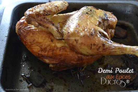 Recette du demi poulet aux épices Ducros® pour un repas du dimanche - Kaderick en Kuizinn©2013