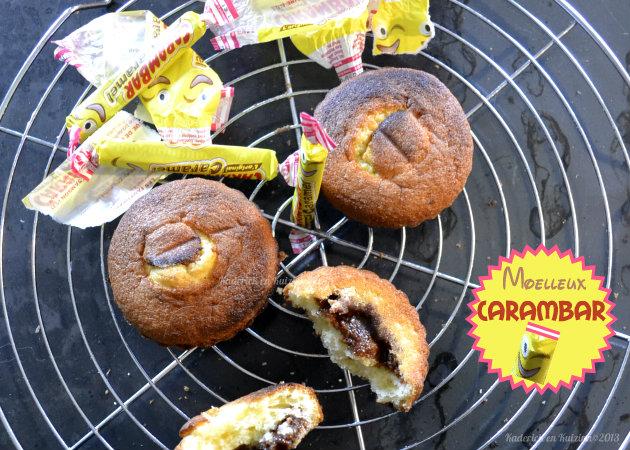 Recette des moelleux avec un coeur au carambar® un goûter ludique et gourmand pour les enfants - Kaderick en Kuizinn©2013