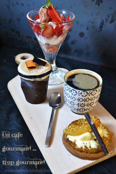 Recette du café gourmand avec un soufflé glacé à la réglisse pour le thème de Culino Versions - Kaderick en Kuizinn©