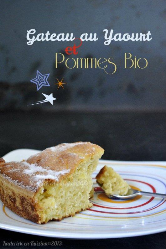 Recette gateau au yaourt vanillé et pommes bio pour un dessert moelleux - Kaderick en Kuizinn©2013
