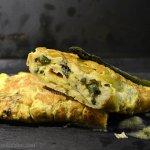 Recette de l'omelette aux asperges vertes fines bio pour un plat de saison - Kaderick en Kuizinn©