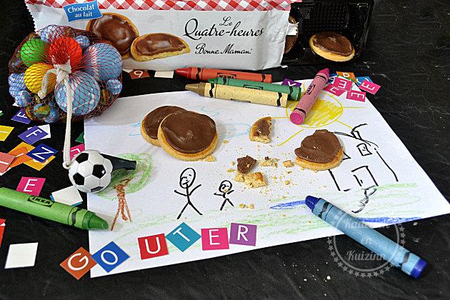 Goûter biscuits au chocolat bonne maman en partenariat