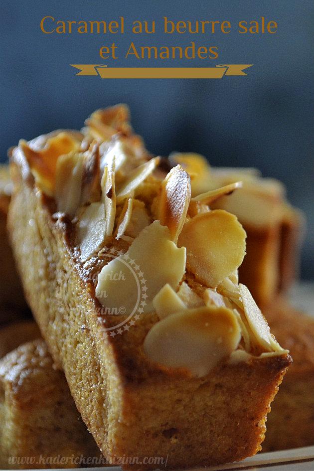 financier caramel beurre sal 233 et amandes recette de cuisine