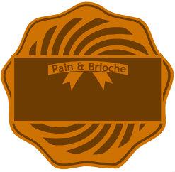 Badge des recettes de pain et brioche - Recette de boulangerie avec le pain
