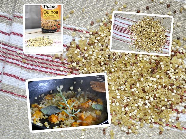Ingrédients quinoa et boulgour gourmand de la marque Tipiak