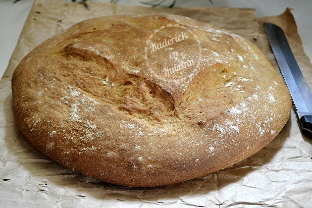Pain de campagne à la farine de seigle - Recette de boulangerie préparé dans ma machine à pain