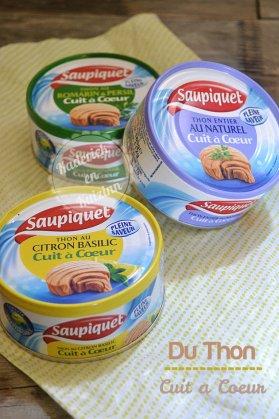 """Partenariat avec la marque Saupiquet et trois boites de thon """"cuit à cœur"""""""