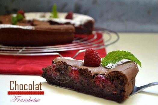 Fondant chocolat noir et framboises - recette du gâteau facile pour une saveur irrésistible