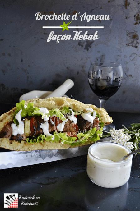 Dégustation brochette d'agneau à la plancha façon kebab