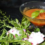 Recette soupe froide de melon au basilic