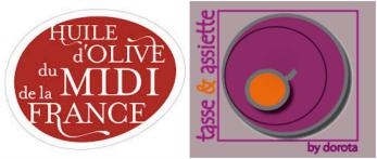 Logo huile olive midi france tasse assiette