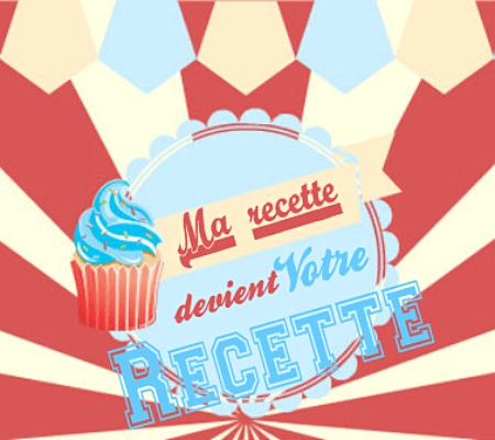 logo du blog en catégorie ma recette devient votre recette