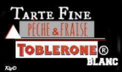 logo tarte peche frais toblerone