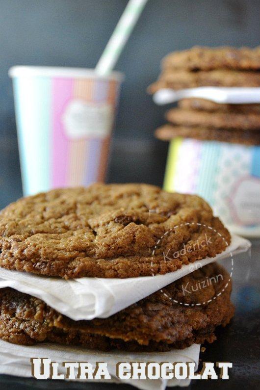 Cookies US ultra gourmand chocolat caramel et café
