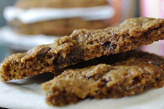 Goûter cookies US ultra chocolat caramel et café