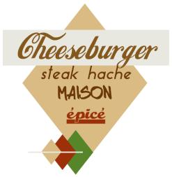 logo du cheeseburger classic avec un steak haché fait maison