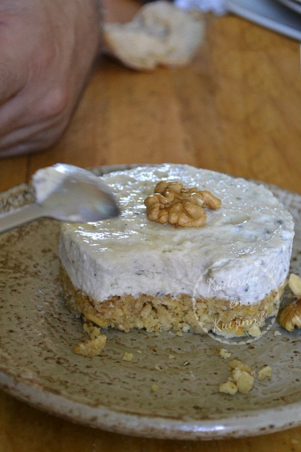Dégustation du cheesecake aux noix et roquefort pour Culino Versions