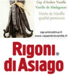 Logo partenariat Rigoni di Asiago et cap d'ambre