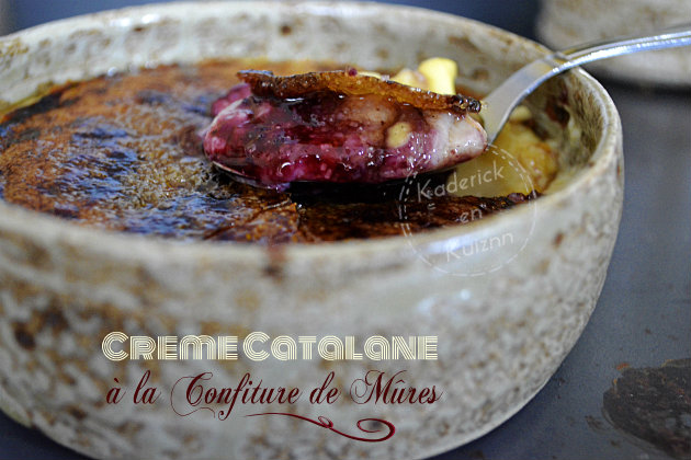 Recette de la crème catalane à la confiture de mûres sauvages