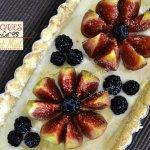 Recette tarte aux figues et mûres à la brousse au miel
