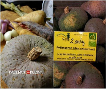 Composition de la recette soupe potimarron chestnut bush bio - légumes bio