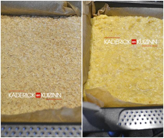 Cuisson des céréales avec la compote de pommes et ananas