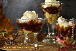Recette de Trifle aux pommes, caramel beurre salé et chantilly vanille - dessert