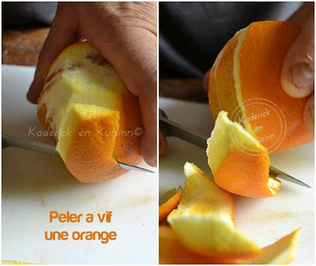 Technique pour peler à vif les fruits bio