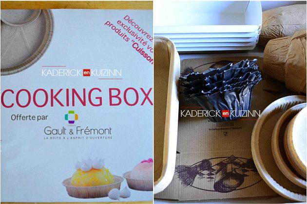 Partenariat Cooking box moules en papier pour tarte, muffins offert Gault Fremont